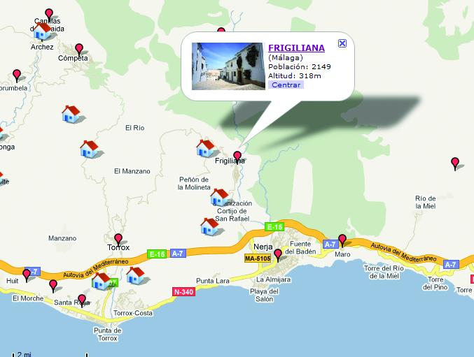 map Frigiliana